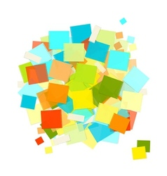 Heap of colorful stickers for your design vector image