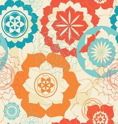 lotus symbols seamless background vector image