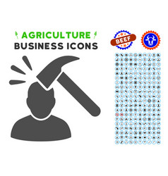 Shock icon with agriculture set vector
