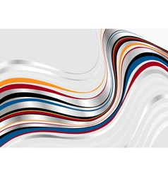 Silver wavy stripes on light background vector image