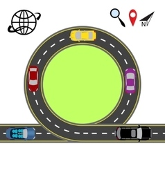 Travel via navigation Abstract highway road vector image