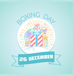 26 december boxing day vector image