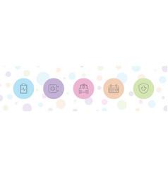 5 emergency icons vector