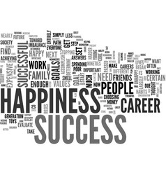 A guide to success and happiness for young people vector