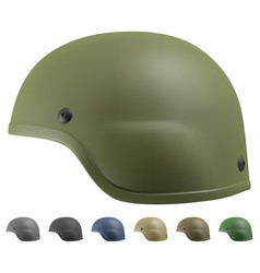 advanced combat helmet vector image