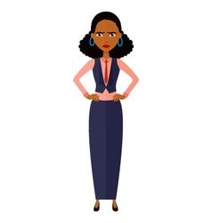 African upset banker girl cartoon vector