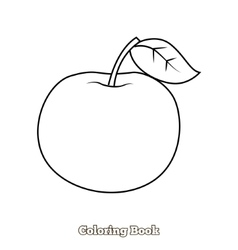 Apple coloring book vector image