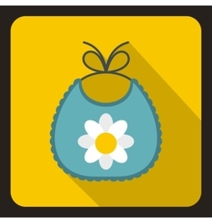 Baby bib icon in flat style vector
