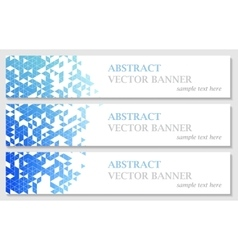 banners with abstract multicolored vector image