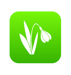 bell flower icon digital green vector image