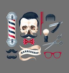 Big set barber shop vector