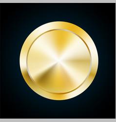Blank gold medal token of vector