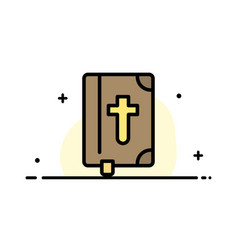 Book bible easter holiday business flat line vector