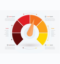 Business meter or indicator infographic vector