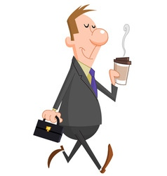 businessman coffee vector image vector image