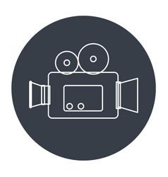 Camera cinema isolated icon vector
