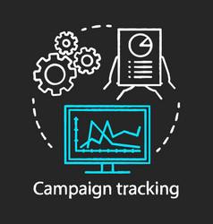 Campaign tracking chalk concept icon marketing vector