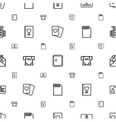 Card icons pattern seamless white background vector