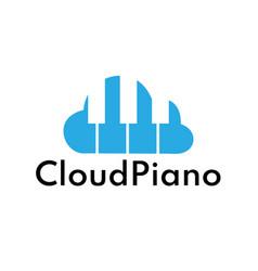 Cloud piano vector