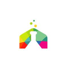 Colorful laboratory logo vector