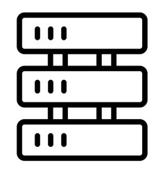 Cryptocurrency server icon outline style vector