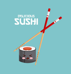 delicious sushi design vector image