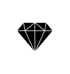diamond icon black on white background vector image