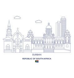 Durban city skyline vector
