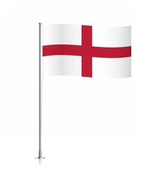 England flag waving on a metallic pole vector image