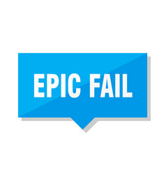 Epic fail price tag vector