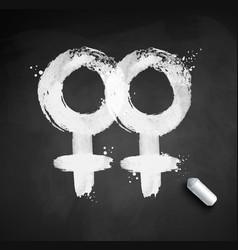 Female gender symbol homosexuality vector