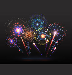 fireworks background firework petard exploding in vector image