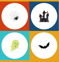 flat icon celebrate set of phantom fortress vector image