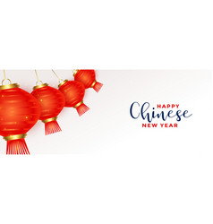 Hanging 3d chinese lamps for new year festival vector