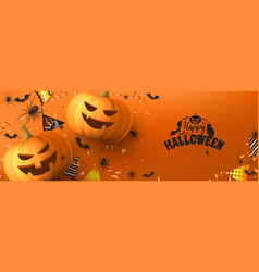 happy halloween holiday banner vector image