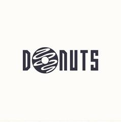 Logo donut vector