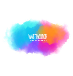 many colors watercolor stain texture background vector image