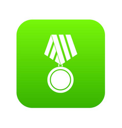military medal icon digital green vector image