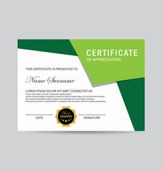 modern certificate vector image