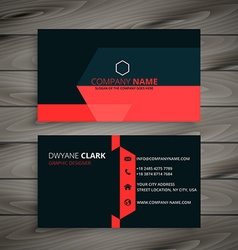 Modern red black business card vector