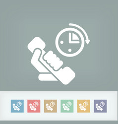 Phone time icon vector