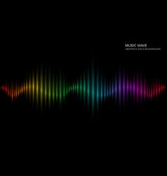 rainbow sound wave multicolor sonic dynamic vector image