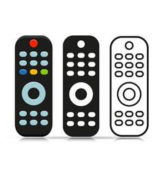 Remote tv control symbol vector