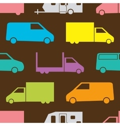Retro truck pattern vector