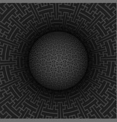 sayagata pattern sphere backdrop vector image