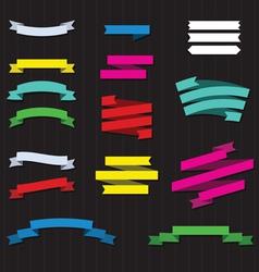 set color ribbons vector image