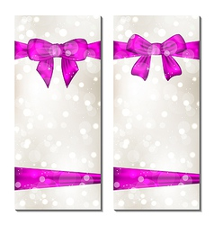 Set of cute cards with gift bows vector