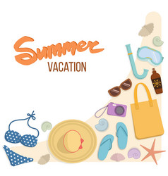 Set of things for a beach holiday vector