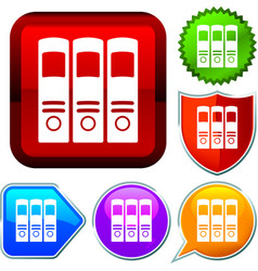 Set shiny icon series on buttons archives vector