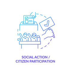 Social action and citizen participation concept vector